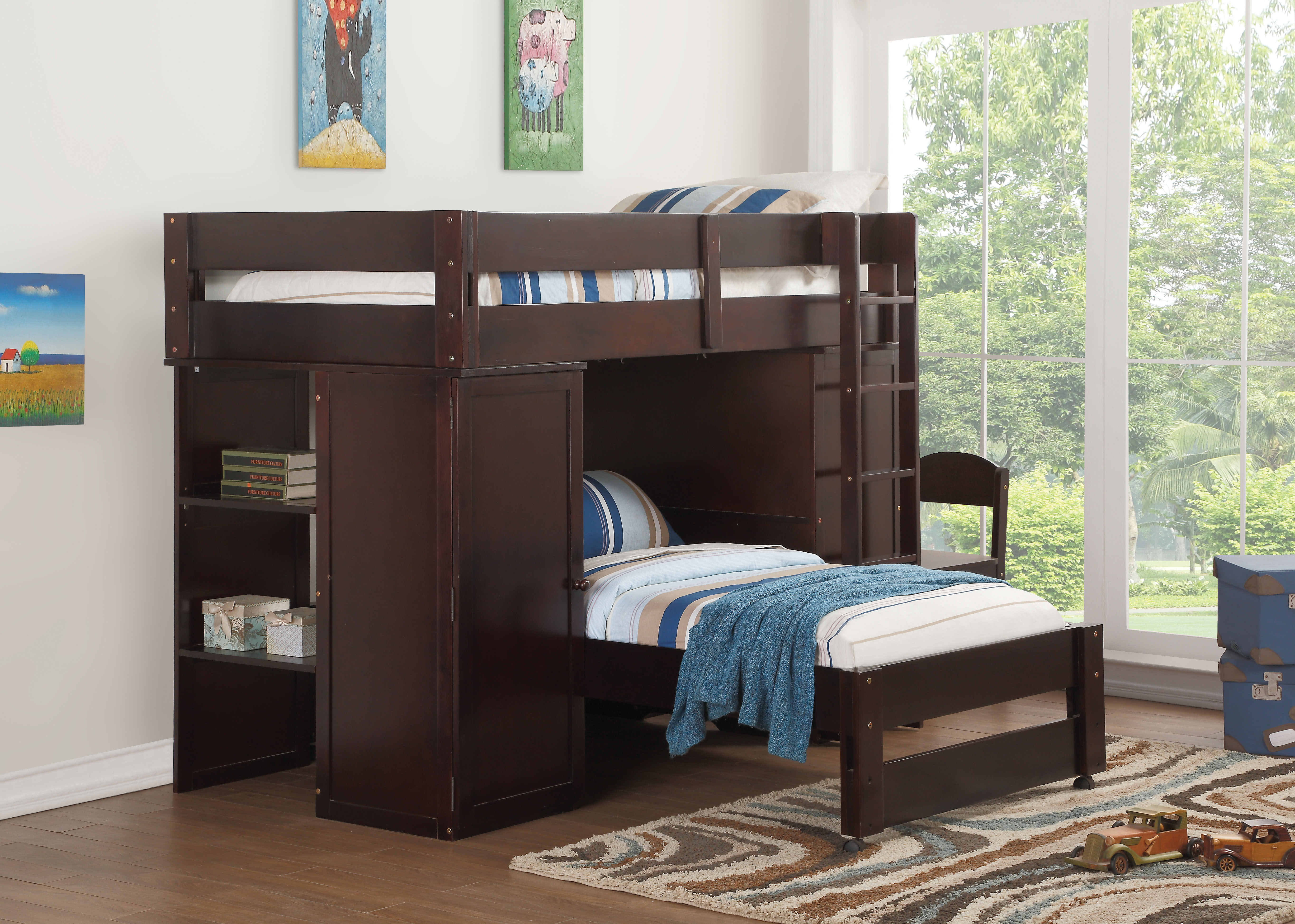 Amazing Acme Lars Loft Bed Top Twin Bed Wenge Box 1 Of 6 Pdpeps Interior Chair Design Pdpepsorg